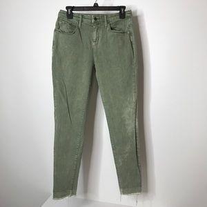 Mossimo Denim Curvy Skinny Jeans Size 6 Green